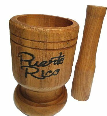 Puerto Rico Medium Size Wood Mortar & Pestle Pylon Pilon Madera - Boricua Rican