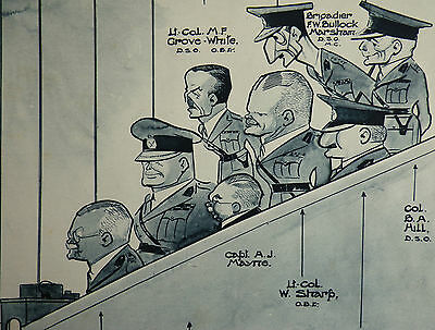 Aldershot Tattoo Humour Organising Officers Fred May Caricature 1934 Article