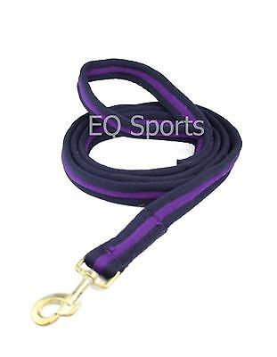 FREE P&P Quality Padded Cushion Horse/Dog Lead With Handle Navy/Purple!