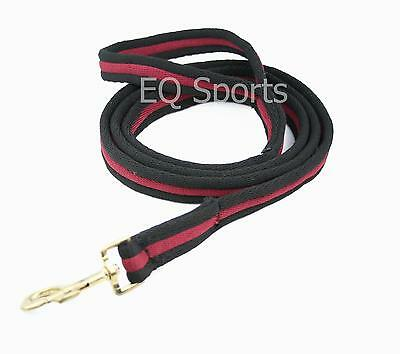 FREE P&P Quality Padded Cushion Horse/Dog Lead With Handle Black/Burgundy!