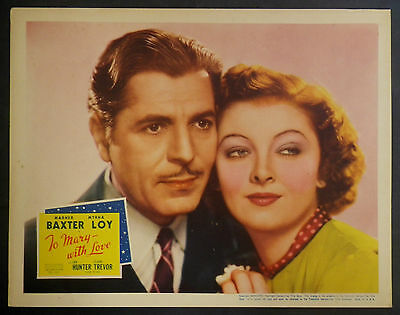 Myrna Loy & Warner Baxter To Mary With Love Original 1936 Large Lobby Card 8328