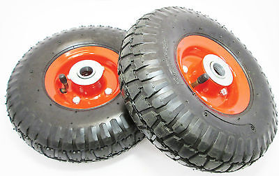 """10"""" Pneumatic Wheels x 2 For Trolley, Dolly, Sack Truck New RM023"""