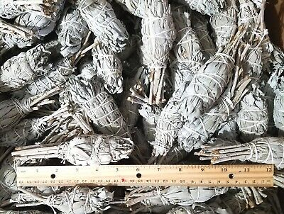 "White Sage Smudge 4"" to 5"" Stick House Cleansing Negativity Removal WHOLESALE"