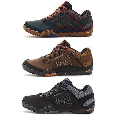 Merrell Annex Hiking & Trekking Shoes in Black, Brown & Blue Wing All Sizes