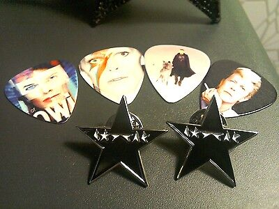 "David Bowie ""Blackstar"" Special Edition tribute pin badge in Gift Box +FREE GIFT"