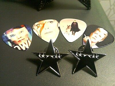 """David Bowie """"Blackstar"""" Special Edn celebratory pin badge in Gift Box +FREE GIFT"""