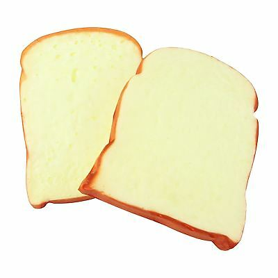 2x Slices of Artificial Fake Bread! Realistic Feel and Appearance! Toast