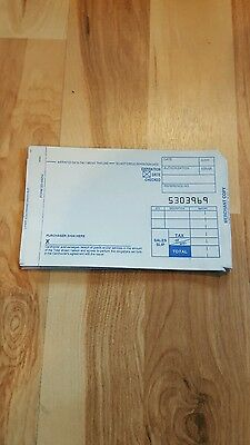 100 SHORT 2 PART Credit Card Manual Imprinter Sales Slip Paper Draft Forms