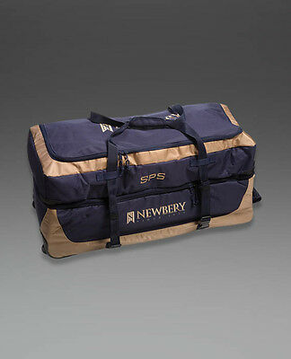 2017 Newbery SPS Overseas Navy Gold Wheelie Cricket Bag