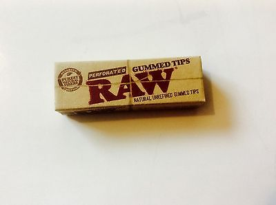 RAW Gummed Tips - Perforated - 1pack ( 33 Tips Per Pack )