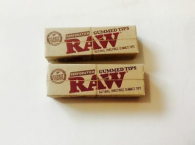 RAW Gummed Tips - Perforated - 2 Packs  ( 33 Tips Per Pack )