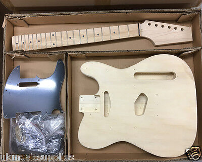 Coban DIY Kit Electric TL190 Basswood body, maple neck, Maple frets Black Parts