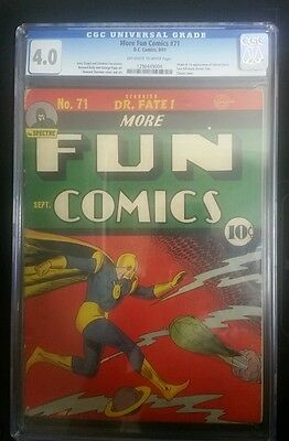More fun comics #71 1941 CGC 4.0 1st Appearance of Johnny Quick