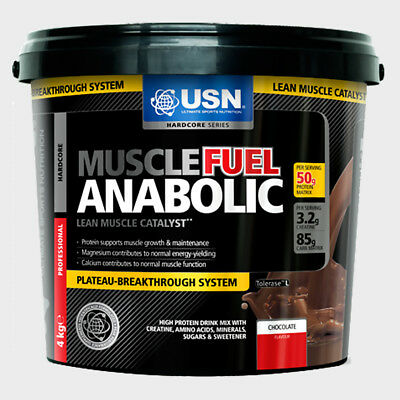 USN Muscle Fuel Anabolic All In One Lean Muscle Whey 4kg + Free Dymatize shaker