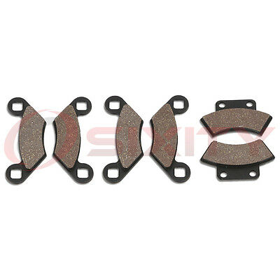 Front + Rear Organic Brake Pads 1996 Polaris Sportsman 500 4x4 Set Full Kit  md