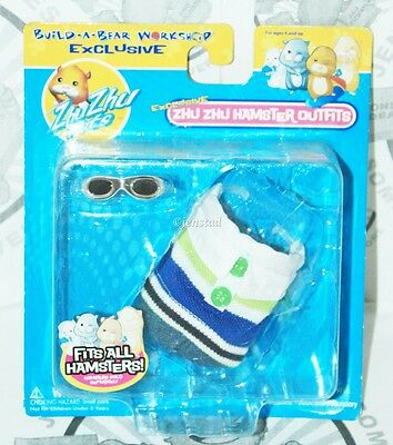 Zhu Zhu Pets Hamsters Build-A-Bear Striped Polo & Glasses Clothing Outfit 2010