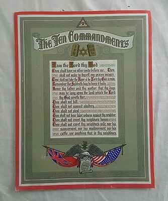 Vintage Order of Eagles The Ten Commandments for Youth Guidance Poster