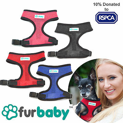 Furbaby Adjustable No Pull Breathable Air Mesh Soft Fabric Dog Puppy Harness NEW