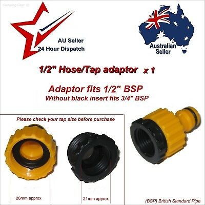 """GARDEN HOSE TAP ADAPTER SUITS 1/2"""" & 3/4"""" TAPS -   water pipe connector coupling"""