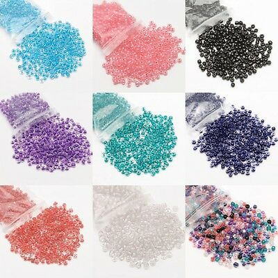 Wholesale Czech 500Pcs Round Colorful Glass Seed Beads DIY Jewelry Making 4mm