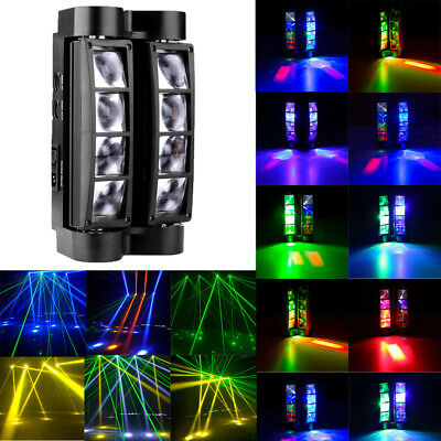 8x10W RGBW 4in1 LED Spider Beam Moving Head Stage Lighting Disco DJ Party Light
