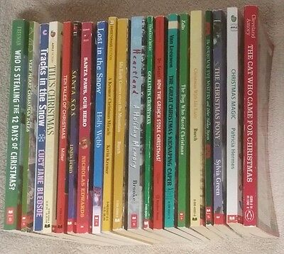 Lot Of 20 CHRISTMAS Stories Childrens Chapter Books Scholastic More GUC