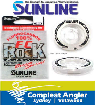 Sunline FC Rock Bream Special 50m 3lb Fishing Leader Line BRAND NEW At Compleat