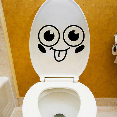 QT-0091 Cartoon Smile Toilet Stickers Wallpapers All-match Style Art Waterproof