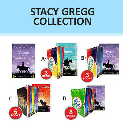 Stacy Gregg Pony Club Secrets Series Collection Gift Wrapped Slipcase NEW Pack