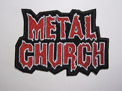 METAL CHURCH first album logo embroidered NEW patch