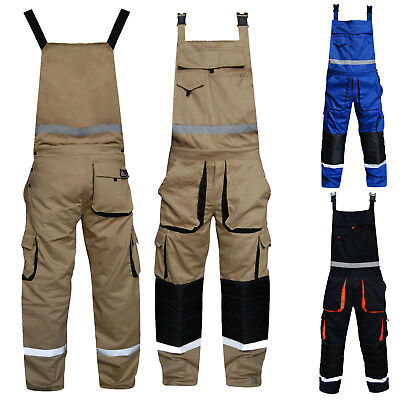 Bib and Brace Dungarees Painters Decorator Engineers Work Wear Overall Coverall