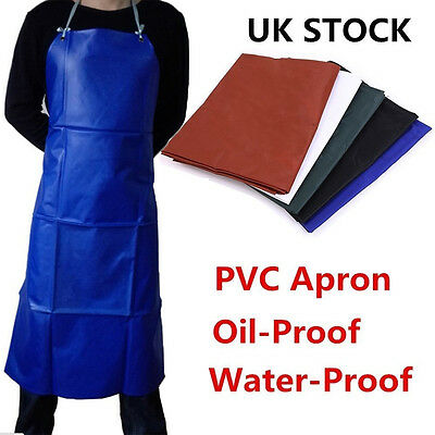 UK Plain Apron Cooking Kitchen Chef Baking Butchers Craft BBQ Catering Long New