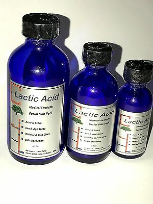 LACTIC Acid 40% or 50 % For : Acne, Wrinkles, Melasma, Age Spots many sizes