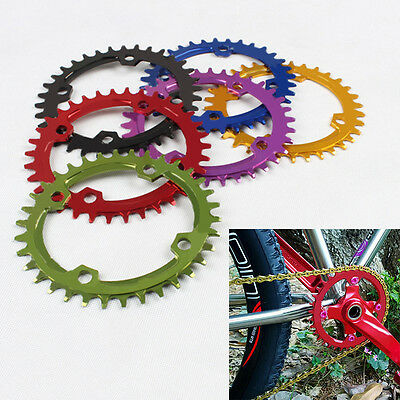 Hot Bike Single Narrow Wide Round Chainring Chain Ring BCD 104mm 32 34 36 38T
