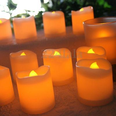 New 24 PCS Flameless Votive Candles Battery Operated Flickering LED Tea Lights