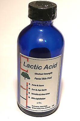 90 % LACTIC Acid peel For: Acne, Wrinkles, Melasma, Age Spots many sizes