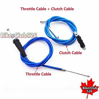 Blue Throttle And Clutch Cable For 50cc-160cc Chinese Pit Dirt Motor Bike