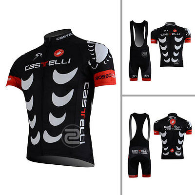 Mens Bike Riding Jersey Bib Shorts Set Cycling Shirt Brace Knicks Tights Kits