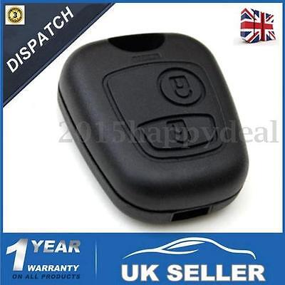 2 Button Remote Key Fob Case For Peugeot 106 107 206 207 306 307 405 406 407 -Uk