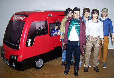 All 5 One Direction/1D Dolls & Tour Bus