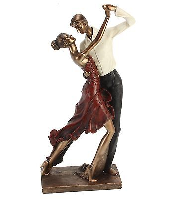 Large Bronze Couple Dancing Tango Figurine Statue Ornament Man and Woman Dancing