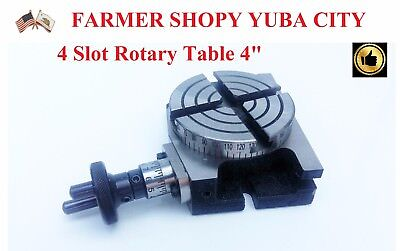 """Rotary Table Horizontal & Vertical 4"""" /100 mm with 4 slots"""