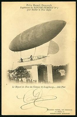 France 1901~ Airship Luftschiff Dirigeable Santos Dumont №7 (1901) Pc Vf Used