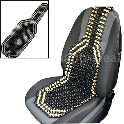 Classic Black Natural Wooden Bead Beaded Car Van Taxi Front Seat Cover Cushion