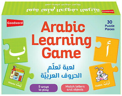 Arabic Learning Game: Match Letters & Objects-Goodword (Kids Children Game Gift)