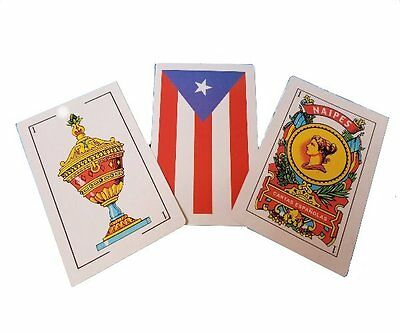Puerto Rico Flag Briscas - Baraja Espanola - Naipes Spanish Playing Cards