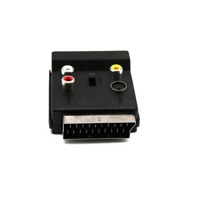 Switchable SCART Adaptor Plug to Socket with S-Video + 3 RCA High Quality NEW