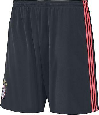 Adidas Mens Football FC Bayern Munich FCB UCL 3rd Shorts 2015 2016 Navy Red