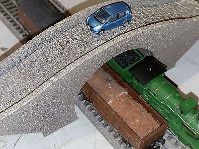 Tt Gauge Stone Bridge  Hump Style  Double Track Overpass Laser Cut Engraved