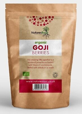 Certified Organic Dried Goji Berries - Best Tasting Berry Superfood - ALL SIZES